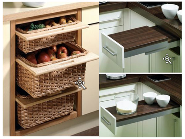 Wicker basket and Table extention